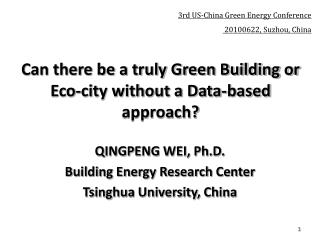 Can there be a truly Green Building or Eco-city without a Data-based approach?