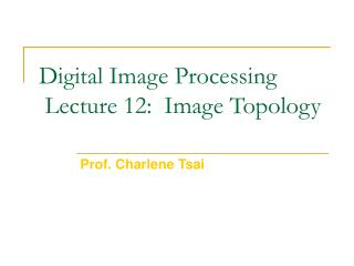Digital Image Processing  Lecture 12:  Image Topology