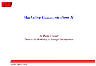 Marketing Communications II