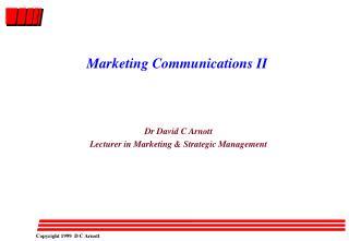 Marketing Communications II