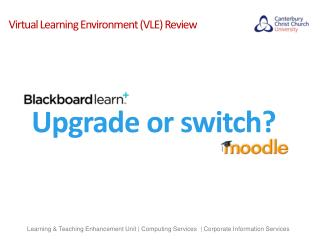 Virtual Learning Environment (VLE) Review