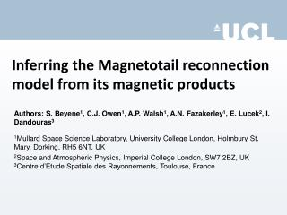 Inferring the Magnetotail reconnection model from its magnetic products
