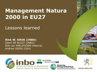 Management Natura 2000 in EU27