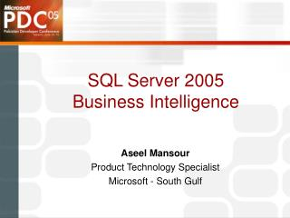 SQL Server 2005 Business Intelligence