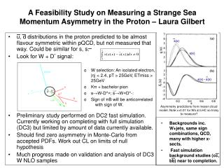A Feasibility Study on Measuring a Strange Sea Momentum Asymmetry in the Proton – Laura Gilbert