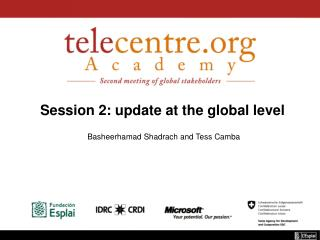 Session 2: update at the global level
