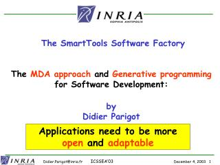 Applications need to be more  open  and  adaptable