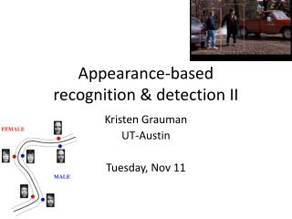 Appearance-based  recognition & detection II