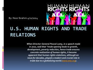 U.S. Human rights and trade relations