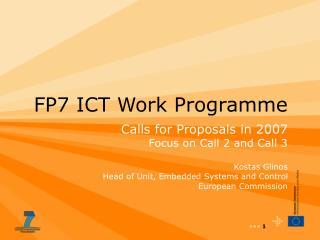 FP7 ICT Work Programme