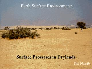 Earth Surface Environments