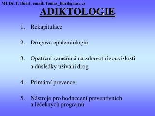 ADIKTOLOGIE