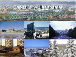 Capital city Ulaanbaatar