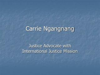Carrie Ngangnang