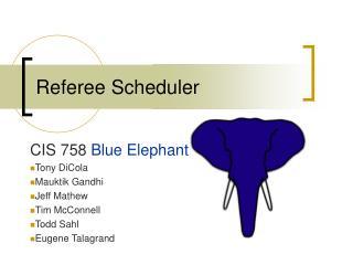 Referee Scheduler