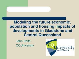 John Rolfe  CQUniversity