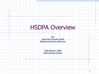 HSDPA Overview