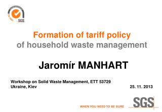 Formation of tariff policy of household waste management