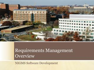 Requirements Management Overview