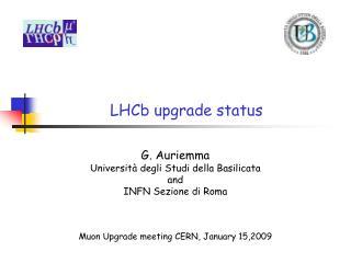 LHCb upgrade status