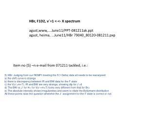 HBr, F1D2, v´=1 <-<- X spectrum agust,www,....June11/PPT-081211ak