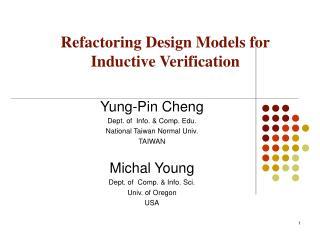 Refactoring Design Models for Inductive Verification