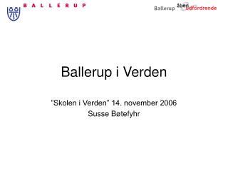 Ballerup i Verden
