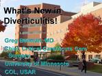 What s New in Diverticulitis