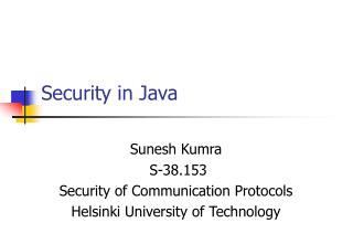 Security in Java