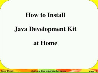 How to Install  Java Development Kit  at Home