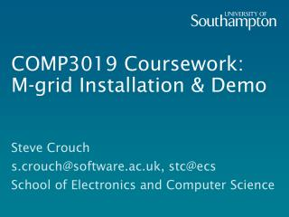 COMP3019 Coursework: M-grid Installation & Demo