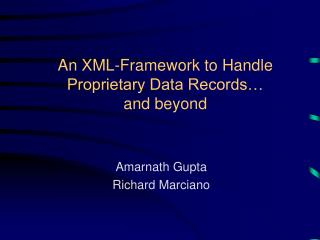 An XML-Framework to Handle Proprietary Data Records…  and beyond