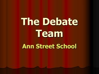 The Debate Team