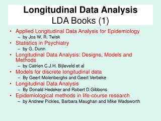 Longitudinal Data Analysis LDA Books (1)
