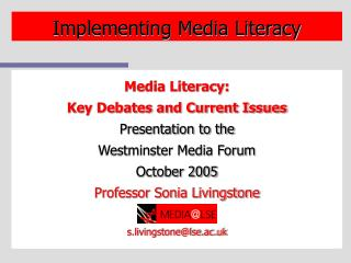 Implementing Media Literacy