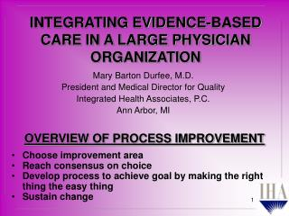OVERVIEW OF PROCESS IMPROVEMENT