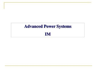 Advanced Power  Systems IM
