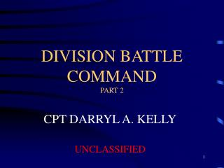 DIVISION BATTLE COMMAND PART 2