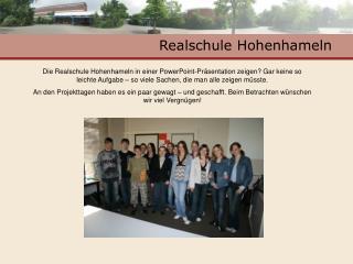Realschule Hohenhameln