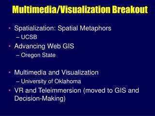 Multimedia/Visualization Breakout