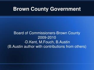 Brown County Government
