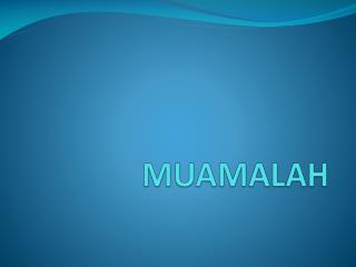 MUAMALAH