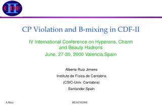 CP Violation and B-mixing in CDF-II