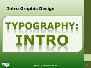 Intro Graphic Design