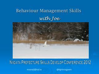 Behaviour Management Skills