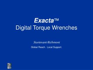 Exacta  Digital Torque Wrenches