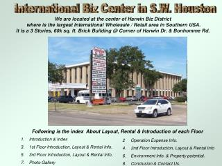 International Biz Center in S.W. Houston