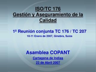 ISO/TC 176 Gesti�n y Aseguramiento de la Calidad