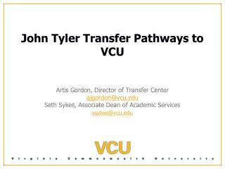 John Tyler Transfer Pathways to VCU