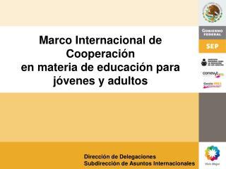 Dirección de Delegaciones Subdirección de Asuntos Internacionales